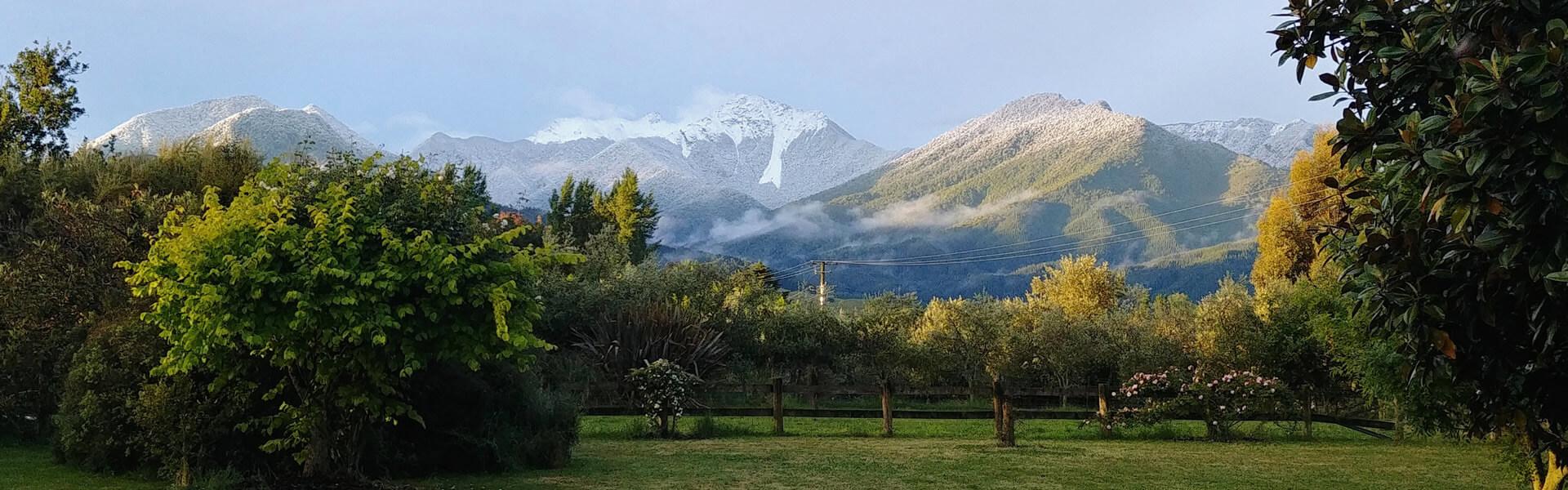 View Of Mountain Ranges Near Jeymar Soap And Body In Blenheim Marlborough NZ